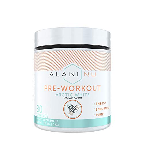Alani Nu Pre-Workout Supplement Powder for Energy, Endurance, and Pump, Arctic White, 30 Servings
