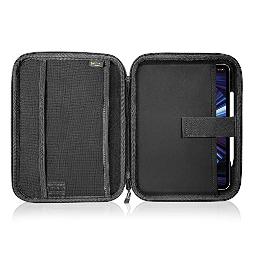 tomtoc Portfolio Case for 2020 10.9 iPad Air 4/ iPad Pro 11-inch/ 10.2 New iPad 2019/10.5 iPad Air , Organizer Bag Holder for iPad Pencil, Cable, A5 Note, Business Storage Padfolio with Tablet Sleeve