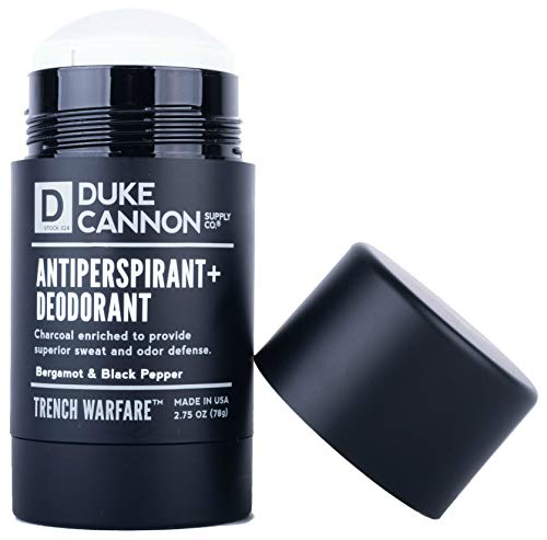 Duke Cannon Trench Warfare Antiperspirant + Deodorant for Men, 2.75 Oz - Bergamot and Black Pepper