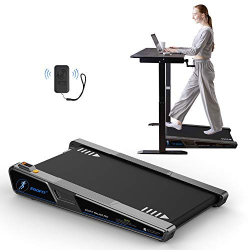 Egofit Walker Pro Smallest Under Desk Electric Walking Treadmill for Home, Small & Compact Treadmill to Fit Desk Perfectly and Home & Office with APP & Remote Control