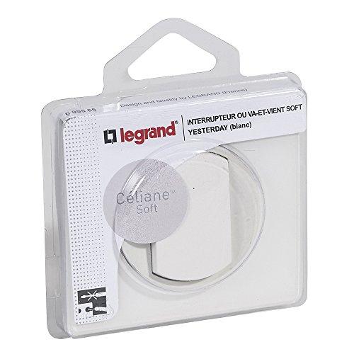Legrand 099565 Céliane Interrupteur Va-et-vient, 250V, Blanc