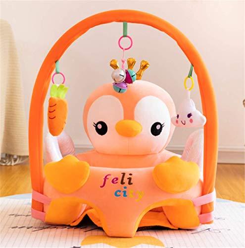 Babyschale, Babywippe Stuhl, Stützsitz für Babys, tragbar, weich, zum Essen, Sofa, aus weichem Plüsch, Tier mit Bogen zum Aufhängen, Spielzeug (Pinguin)