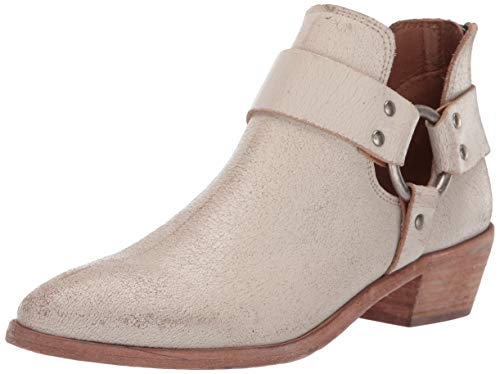 Frye Women's Ray Harness Back Zip Ankle Boot, Off White, 5.5 Medium US