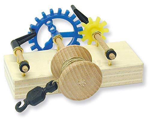 matches21 Seilwinde Modell Holz Bausatz f. Kinder Lehrmittel Werkset Bastelset ab 10 Jahren