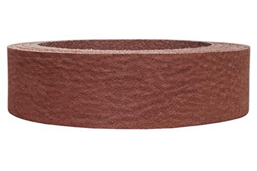Lederriemen 'nubukiert', samtartige Oberfläche mit Pull Up Effekt, ca 3,3mm dick, Farbe:cognac, Breite:2.5cm breit