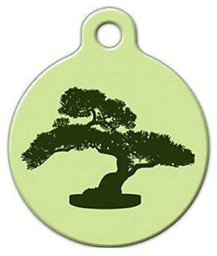 "Bonsai Tree Custom Personalized for Dog and cat Collars Supplies tkdog-tag-art1 (Small (7/8"" Dia))"
