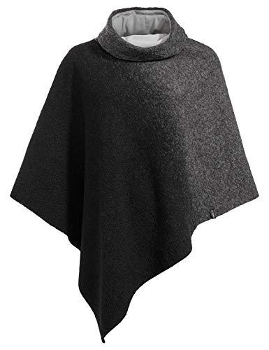 VAUDE Västeras Poncho Polaire Femme Noir FR : Taille Unique (Taille Fabricant : Taille Unique)
