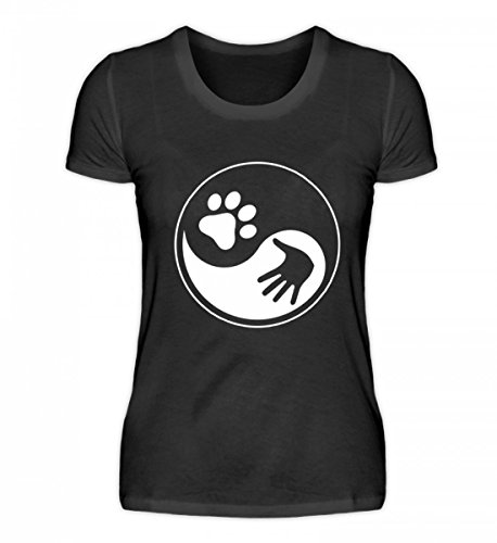 Chorchester Hoogwaardig damesshirt - Het Yin en Yang de hondenhouder!