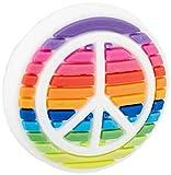 Crocs Jibbitz Rainbow Shoe Charms | Jibbitz for Crocs, Rainbow Peace Sign, Small