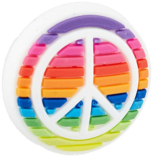 Crocs Love Shoe Charms | Jibbitz, Rainbow Peace Sign, Small