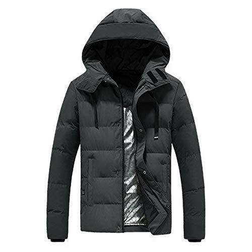 YFJBDKS Chauffage électrique Veste, Plus Size Chaude Jacket USB Charge Capuche Vêtements avec 3 Température pour Pêche Moto Ski Camp en Plein Air,Gris,3XL
