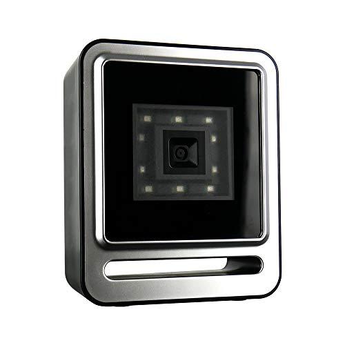 Escáner de Código de Barras 2D con Cable USB, Escáner Automático de Código de Barras Fijo para Códigos 1D y 2D, Lector Profesional de Código de Barras de Sobremesa