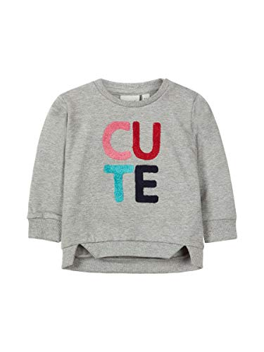 NAME IT baby meisjes sweatshirt, trui OMMI in grijs melange