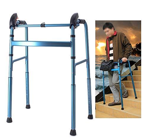 Andador Andadores para Ancianos Andador para escaleras para personas mayores, andador de aluminio de altura ajustable para trabajo pesado, casa interior al aire libre, ancianos discapacitados mujeres
