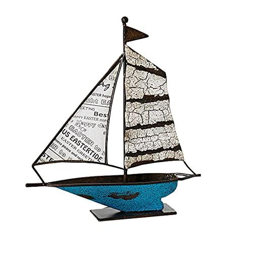 Piccola Decorazione Della Statua Ornamenti di modello creativo della barca del salone Portico del...