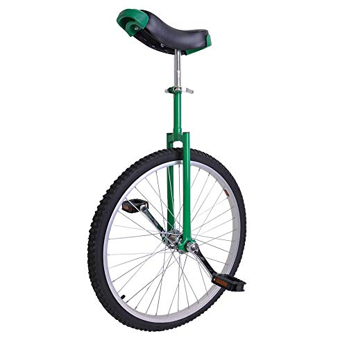 24 Inch Astonishing Green Mountain Bike In 24' Wheel Frame Unicycle Cycling Bike With Comfortable Release Saddle Seat