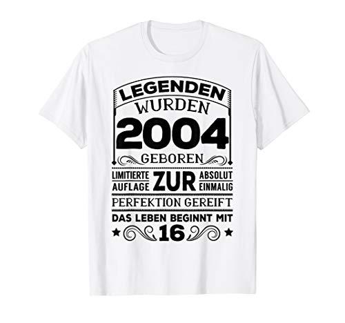16. Geburtstag Geschenk Lustig Junge Mädchen 2004 Party T-Shirt
