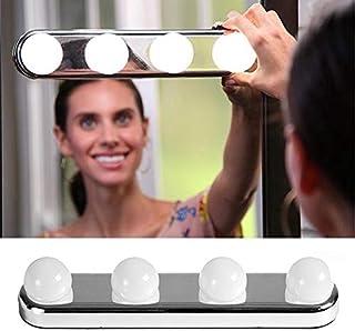 QZ 4 LED Bulbs Make Up Mirror Light Battery Powered Studio Glow Vanity Make Up Light Super Bright