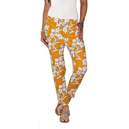 Dresscode-Berlin DB Leichte Damen Baumwoll Sommerhose in 9 verschiedenen dekorativen Designs (One Size, M 08)