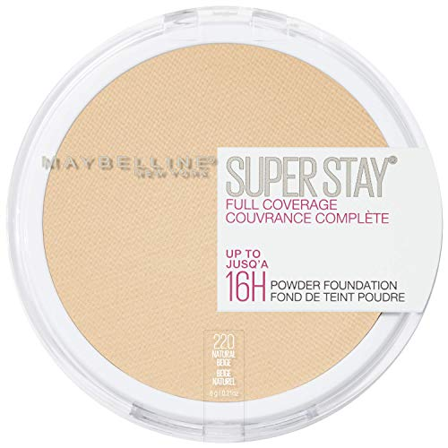 Maybelline New York Super Stay Full Coverage Powder Foundation Makeup , 220 NATURAL BEIGE