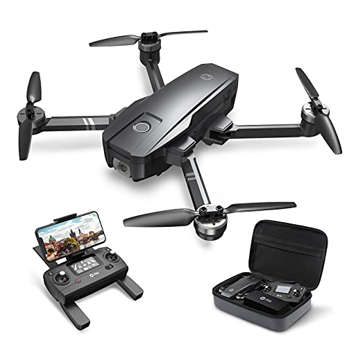 Holy Stone ドローン GPS搭載 折り畳み 4K広角カメラ付き フライト時間26分 収納ケース付き ブラシレスモーター オートリターンモード フォローミーモード オプティカルフロー 高度維持 ヘッドレスモード 2.4GHz モード1/2自由転換 国内認証済み HS720 ブラック