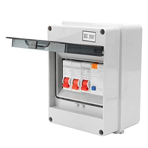 Solid Shell 30mA RCD 2MCB 6A + 16A Luftschalter Leckageschutz 2-Wege 40A Miniatur-Leistungsschalter für Garagen-Caravans