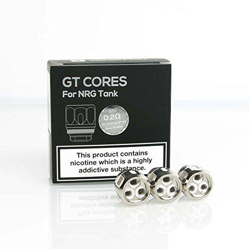 Vaporesso NRG & SE Tanque GT6, bobinas de repuesto, paquete de 3 (resistencia GT 6 a 0.2 ohm (40-100W)), (kits Revenger X), Este producto no contiene nicotina ni tabaco