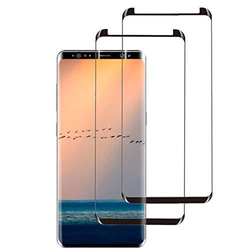 Samsung Galaxy S9 Panzerglas,3D Volle Abdeckung Samsung S9 Schutzfolie,9H Härte, Anti-Kratzen, Ultra-klar, Blasenfrei,Displayschutzfolie für S9[2 Stück]