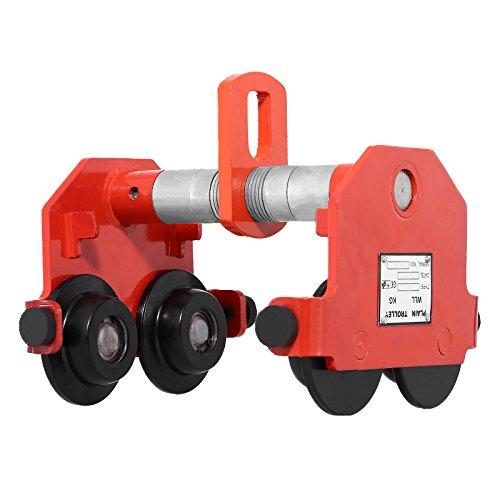 BuoQua 500kg Argano Manuale Con Il Carrello 0.5T Travi Di Scorrimento Carrelli 0.5T Push Trolley Regolabile