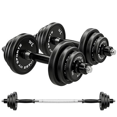 Kxt Attrezzatura da Allenamento Acciaio Puro manubri Attrezzature for Il Fitness for Uso Domestico Un Paio di Staccabile Due 15kg Due 20kg manubri bilanciere Set Manubri (Dimensione : 15kg)