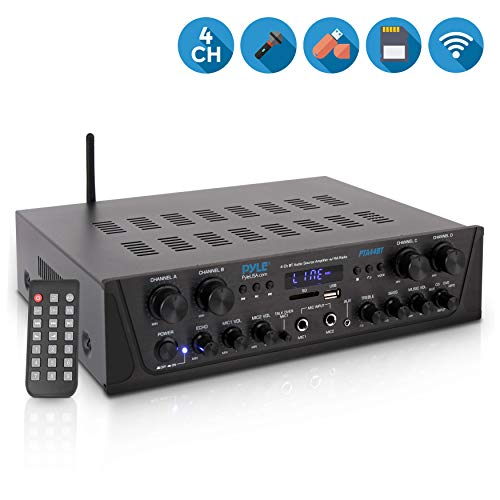Best Deals! 500W Karaoke Wireless Bluetooth Amplifier - 4 Channel Stereo Audio Home Theater Speaker ...