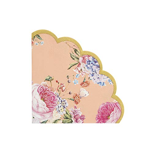 Talking Tables Pack of 20-Size 30cm Truly Scrumptious Afternoon Tea Party Floral Napkins Quality Scalloped Vintage Syle for Birthday Wedding Anniversary Baby Shower
