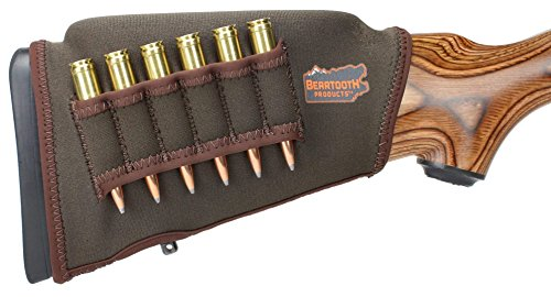 Beartooth Comb Raising Kit 2.0 - Neoprene Gun Stock Sleeve + (5) Hi-Density Foam Inserts - Rifle Model (Brown)