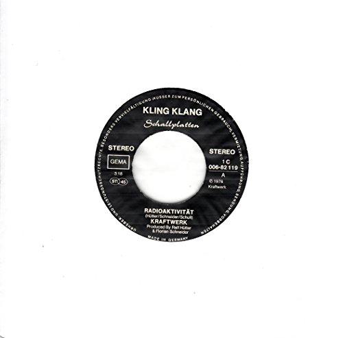 Kraftwerk / Radioaktivität / Antenne / 1976 / weiße ERSATZ Lochhülle / Kling Klang Schallplatten 1C 006-82 119 / 82119 / Deutsche Pressung / 7 Zoll Vinyl Single-Schallplatte SP /