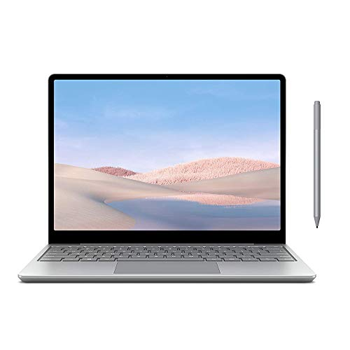 Microsoft Surface Laptop Go 12.4' Touchscreen Laptop PC, Intel Quad-Core i5-1035G1, 4GB RAM, 64GB eMMC, Webcam, Win 10, Bluetooth, Online Class Ready, w/Surface Pen - Platinum
