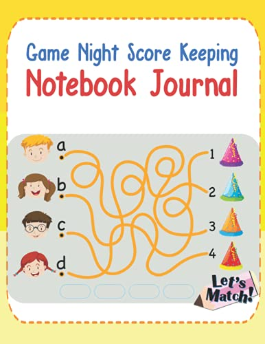 Game Night Score Keeping Notebook Journal: Simple Gaming Log...