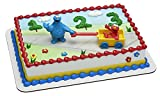 Decopac Sesame Street Let's Play DecoSet Cake Decoration Topper Elmo Cookie Monster, 3', count of 2