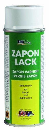 Kreul 840400 - Zapon Lack, 400 ml Spraydose, wasserheller Nitro Kombilack, Schutzfilm für Metallflächen, die das Mattwerden, Verfärbungen und Korrosion verhindert, für Innen und Außen geeignet