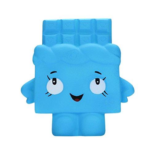 IGEMY Weiches Schokoladen-Toast-langsames Steigendes Pressungs-Stress-Helfer-Spielzeug für Kind (Blau)