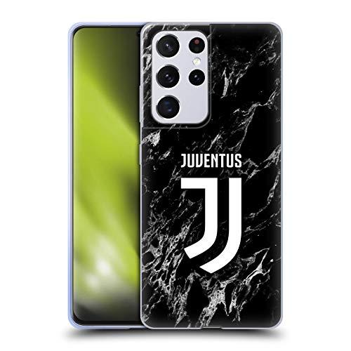 Head Case Designs Licenza Ufficiale Juventus Football Club Nero Marmoreo Cover in Morbido Gel Compatibile con Samsung Galaxy S21 Ultra 5G