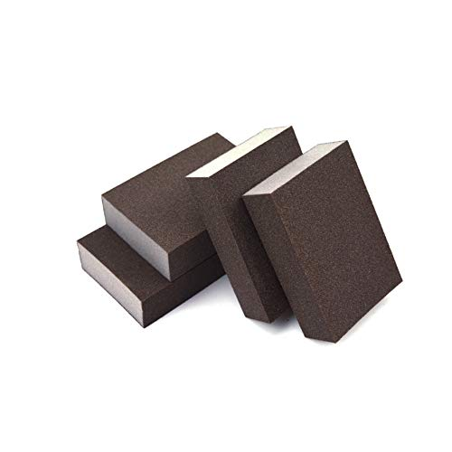 Extra Fine (400 Grit) Manual Sanding Sponge Sheet Kitchen Polishing Grinding Abrasive Sponge Block 4-Inch, 4-Pack
