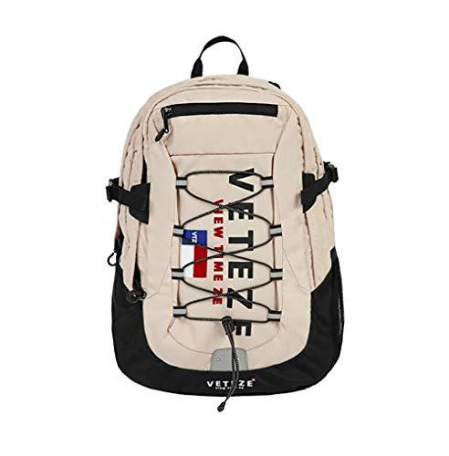 【VETEZE】 大人氣 ! !ベテゼ 正規品 Big Logo Backpack SNSで人気韓国 人気 リュック バックパック (Beige ベージュ)