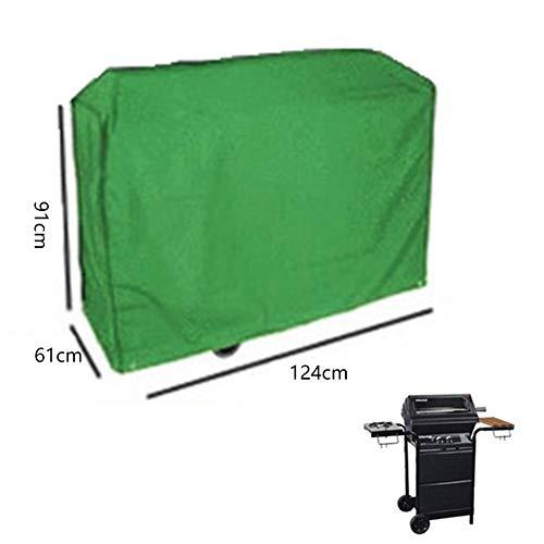 RUANMU Couvercle De Protection Couverture De Meubles, Vert Nylon + Plastique Couverture De Barbecue, Imperméable/Crème Solaire,Green,124 * 61 * 91CM