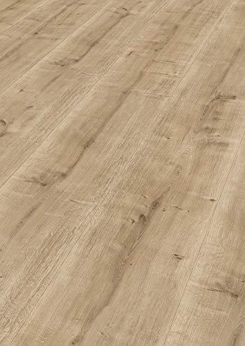 moderna Laminatboden dunkel 328mm breit | Erico Laminat Eiche dunkel ✓extrabreites Dielenformat ✓einfache Klick Montage ✓Landhaus Optik und Struktur | horizon Laminaten 8mm stark | 2,535qm