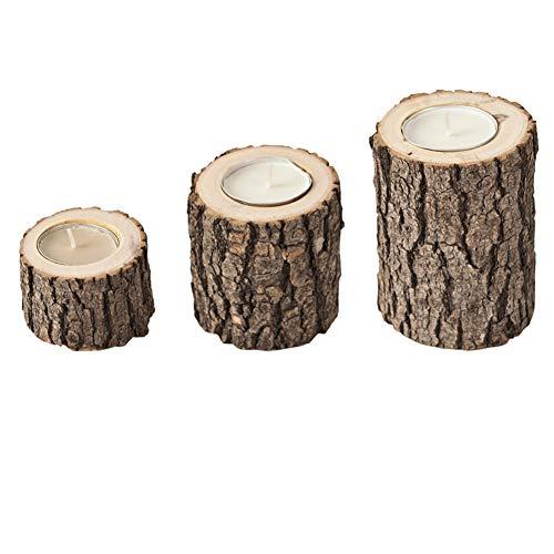 Dongbin Kerzenständer Antike Holz, Kerzenhalter Tee Baule Trunk verzierte Kerzenhalter, Blumenvasen in Fuß oder fleischigen, Geeignet für Hochzeiten,Braun