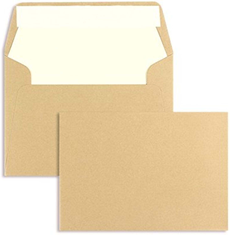 Farbige Briefhüllen   Premium Premium Premium   125 x 176 mm (DIN B6) Braun (100 Stück) mit Abziehstreifen   Briefhüllen, KuGrüns, CouGrüns, Umschläge mit 2 Jahren Zufriedenheitsgarantie B01CSFCR8W | Feinen Qualität  dbeb3f