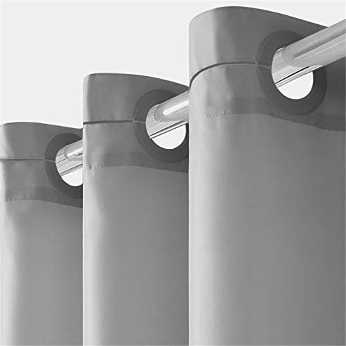 Furlinic Cortina Ducha Antimoho con Impermeable Cortinas Baño de Ojetes Tela de Poliéster Lavable a Máquina para Bañera Cuarto de Baño Gris 180x180cm