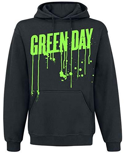 Green Day Revolution Drips Männer Kapuzenpullover schwarz S