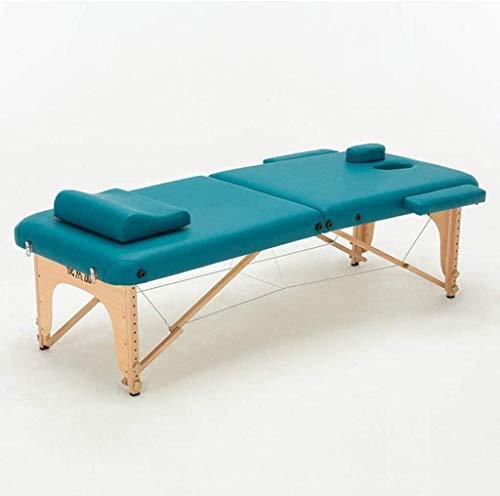 Find Discount WJMLS Portable Massage Bed Table, Foldable Wooden Frame Massage Table Couch Beauty Spa