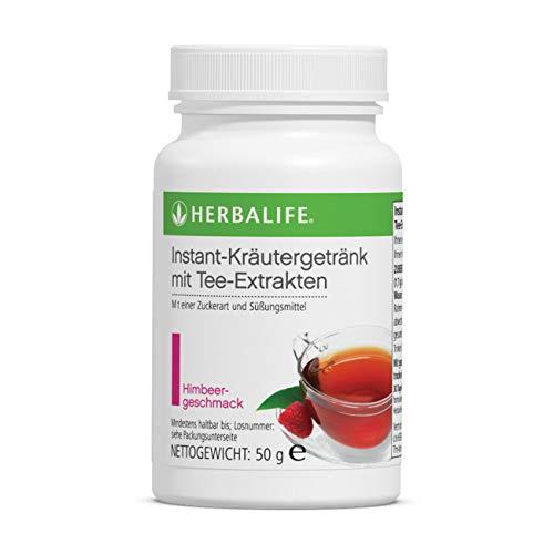 Herbalife Bebida instantánea de hierbas con cafeína con extractos de té, sabor frambuesa, 50 g